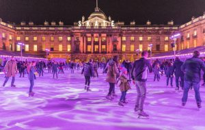 Ice skating rink in London