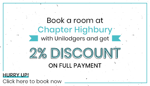 2-percent-Discount-Chapter-Highbury-London-Unilodgers