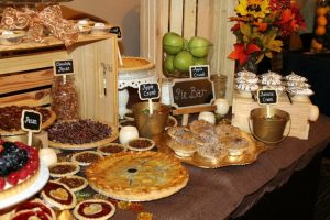 Pie Bar on Thanksgiivng