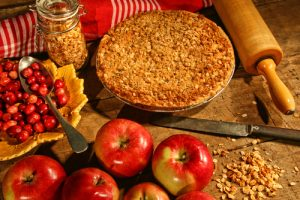Apple and cranberry pie recipe.